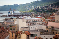 Vista de los tejados de Trieste Imagenes de archivo