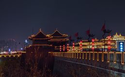 Vista de los terraplenes de Xian City Wall, - Imagen imagen de archivo