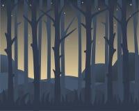 Vista de los troncos de árbol ilustración del vector