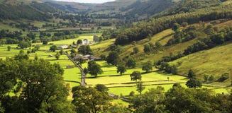 Vista de los valles de Yorkshire, Inglaterra Fotos de archivo