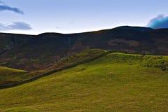 Vista de los valles, districto máximo, Inglaterra. Imagen de archivo