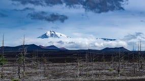 Vista de los volcanes imagenes de archivo
