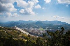 Vista de Lovcen em Montenegro foto de stock