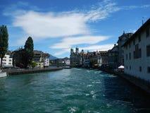 Vista de Lucerna, Suiza Foto de archivo libre de regalías