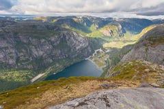 Vista de Lysefjord Fotografia de Stock Royalty Free
