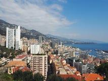 Vista de Mónaco de una cumbre Fotografía de archivo