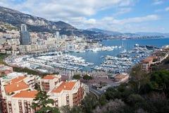 Vista de Mónaco, Monte Carlo Fotografía de archivo