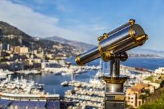 Vista de Mónaco Monte Carlo Foto de archivo libre de regalías