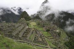 Vista de Machu e de Huana Pichu Foto de Stock Royalty Free