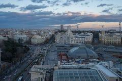 Vista de Madrid de los artes de circulo de bellas Fotografía de archivo
