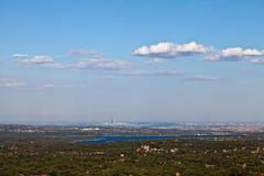 Vista de Madrid, España de San Lorenzo fotos de archivo libres de regalías