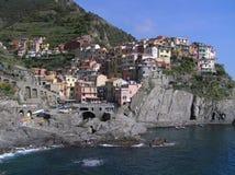 A vista de Manarola, Cinque Terre, Itália fotos de stock royalty free