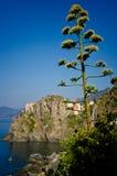 Vista de Manarola, Italia Imagenes de archivo
