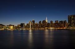 Vista de Manhattan de Brooklyn NY imagen de archivo