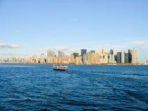 Opinião de Manhattan Fotos de Stock Royalty Free