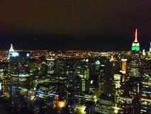 Vista de Manhattan del centro de Rockefeller Foto de archivo