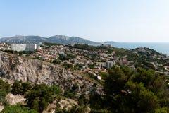 Vista de Marselha, France Fotografia de Stock