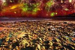Vista de Marte Imagem de Stock Royalty Free