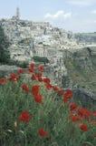 Vista de Matera en primavera, Italia Fotos de archivo