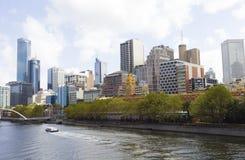 Vista de Melbourne céntrica Imágenes de archivo libres de regalías