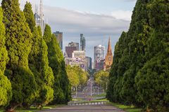 Vista de Melbourne CBD Imagen de archivo libre de regalías