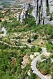 Vista de Meteora Foto de archivo libre de regalías