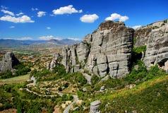 Vista de Meteora Imagenes de archivo