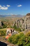 Vista de Meteora Imagen de archivo libre de regalías