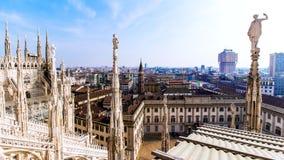 Vista de Milán el Duomo Imagenes de archivo