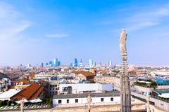 Vista de Milán el Duomo Fotografía de archivo libre de regalías