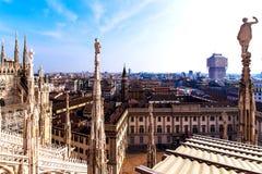 Vista de Milán el Duomo Imagen de archivo
