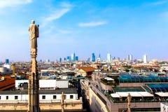 Vista de Milán el Duomo Fotos de archivo