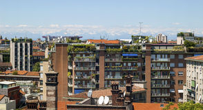 Vista de Milão Fotografia de Stock