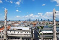 Vista de Milano Imagen de archivo libre de regalías