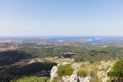 Vista de Minorca Imagen de archivo