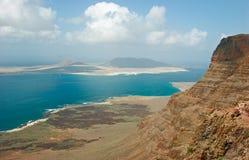 Vista de Mirador em Lanzarote Fotografia de Stock Royalty Free