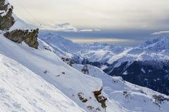 Vista de Mont Blanc Imágenes de archivo libres de regalías