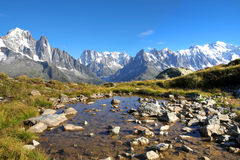 Mont Blanc, Francia Imagenes de archivo