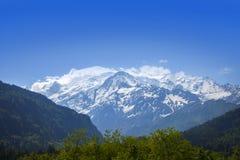 Vista de Mont Blank masive fotos de stock