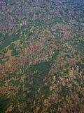 Vista de montañas del aire imagen de archivo libre de regalías