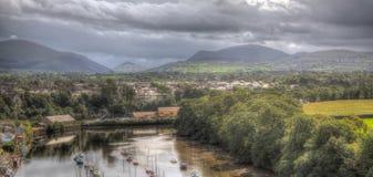 Vista de montañas en País de Gales del norte fotografía de archivo