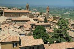 Vista de Montalcino, Toscânia, Italy Foto de Stock Royalty Free