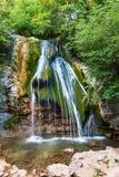 vista de montanhas crimeanas da cachoeira n de Djur-djur foto de stock royalty free