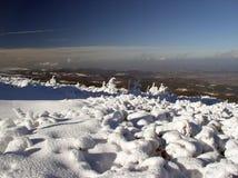 Vista de montanhas de Izerskie Imagens de Stock Royalty Free