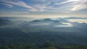 A vista de Monte Fuji imagens de stock