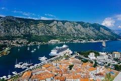 A vista de Montenegro foto de stock