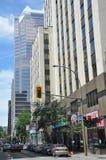 Vista de Montreal da baixa Fotos de Stock