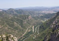 Vista de Montserrat Mountain Fotografia de Stock