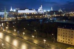 Vista de Moscú con los edificios altos Fotos de archivo