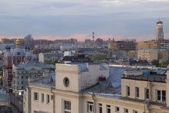 Vista de Moscú con los edificios altos Imagen de archivo libre de regalías